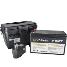 Vosker V-CASE-12V EXT 12V BATTERY, CASE, CHARGER, CABLE